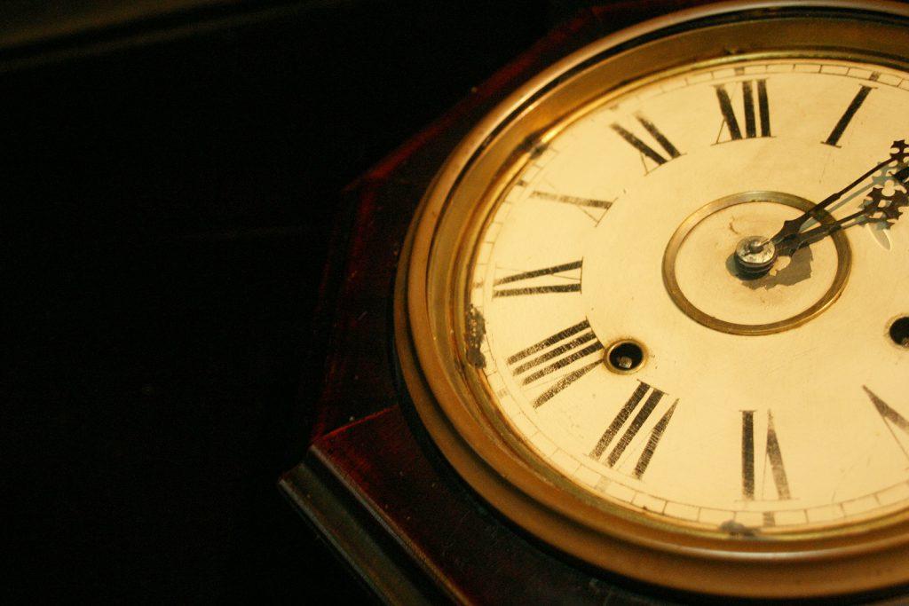 英文字の時計