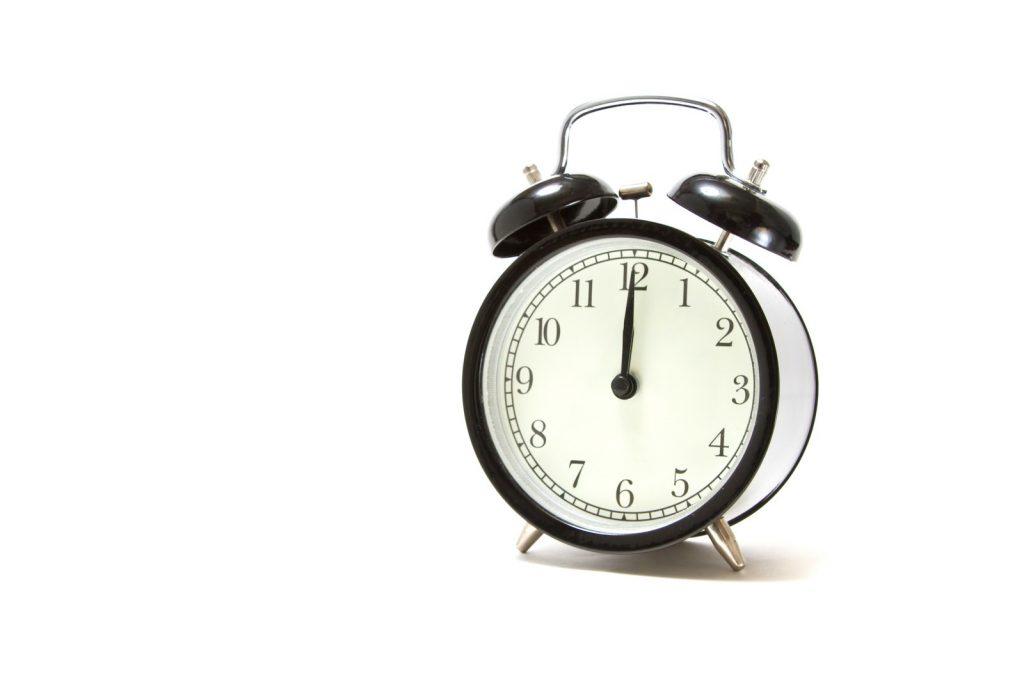 昔ながらの目覚まし時計