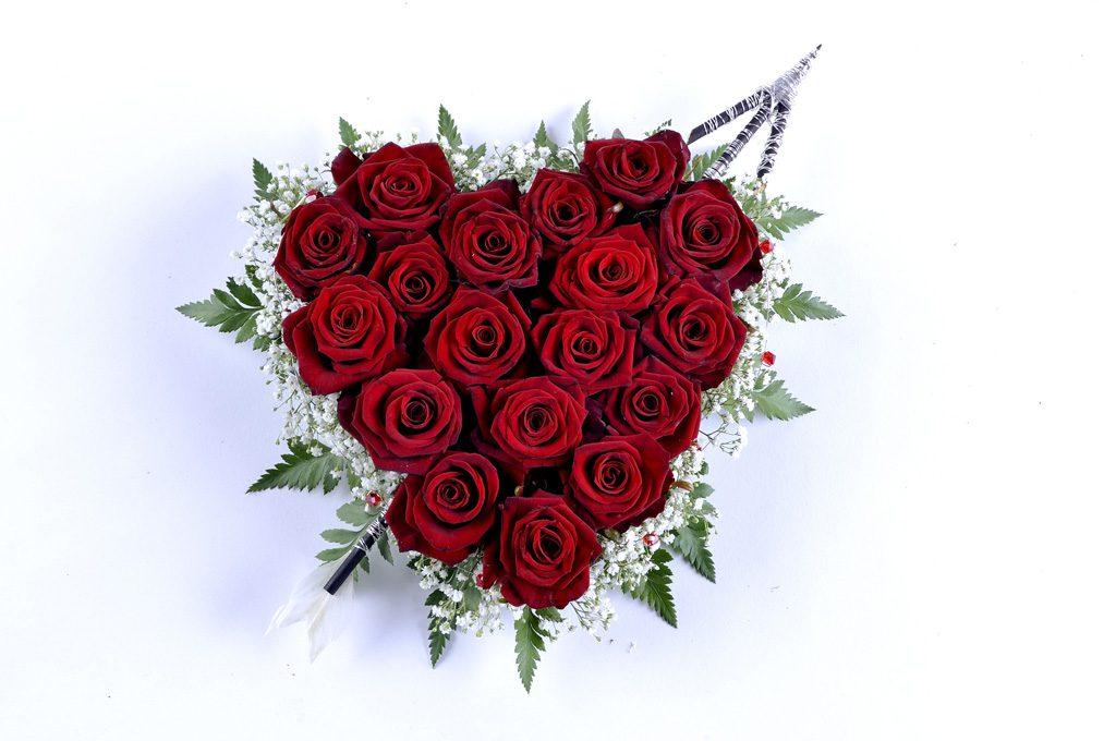 ハート型の複数のバラ