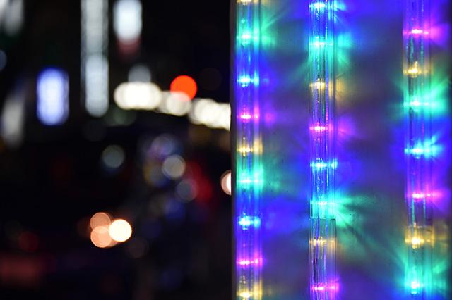 ライトアップされた装飾