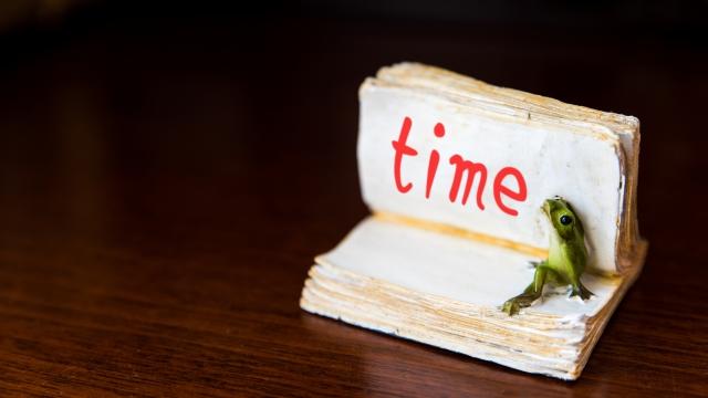 タイムと書かれたノート
