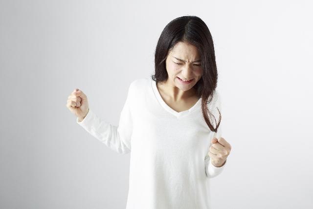 怒る日本女性