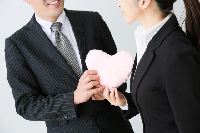 社内恋愛する男女