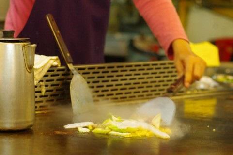 鉄板焼きの野菜炒め