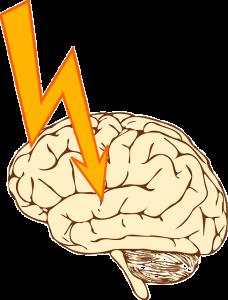 刺激されている脳