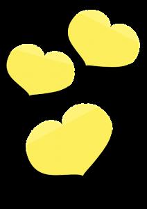 ハート型のメモ