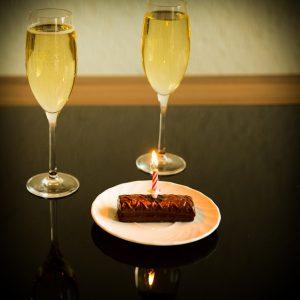 シャンパンと料理