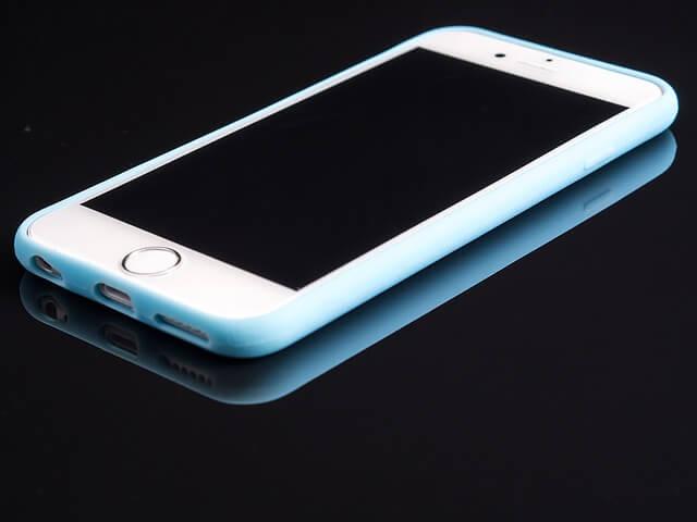 プロテクトされたスマートフォン
