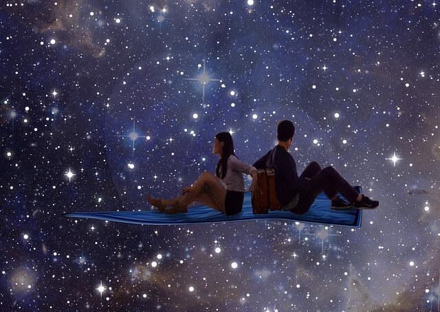 星空の舞う寝る場所