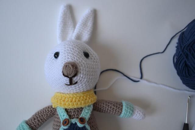 ウサギの編み物