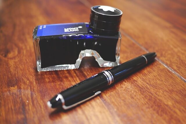 万年筆とインク