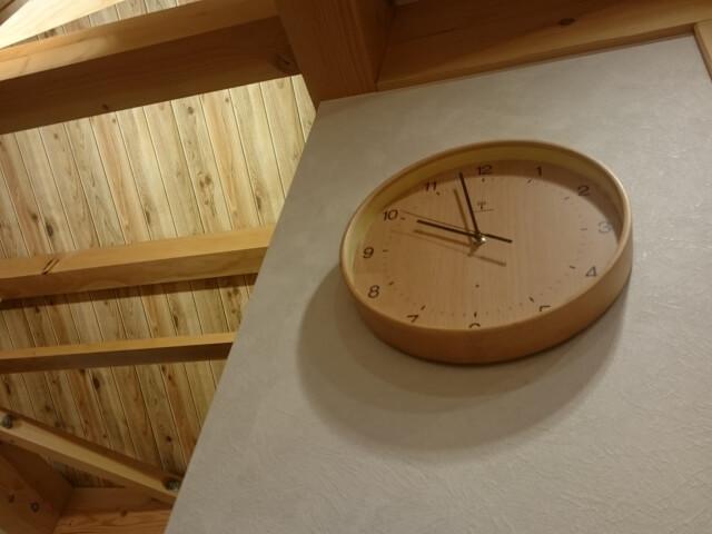 立てかけられた時計