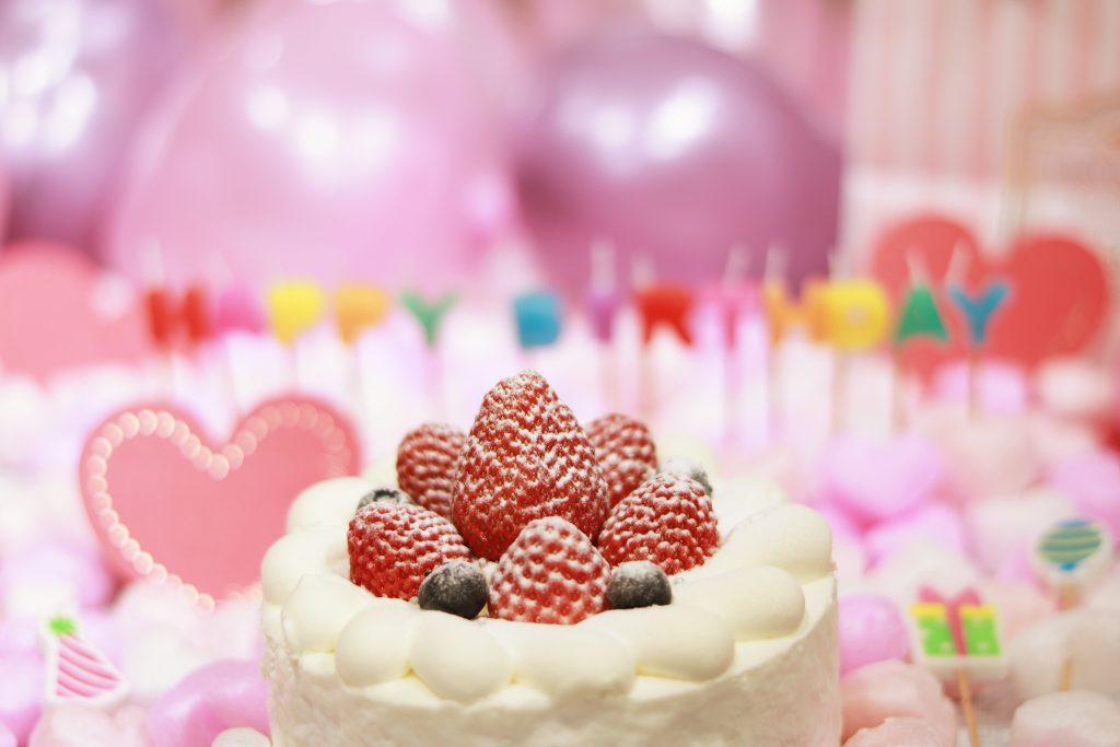 おしゃれな誕生日ケーキ