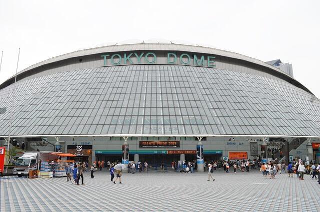 晴れの日の東京ドーム