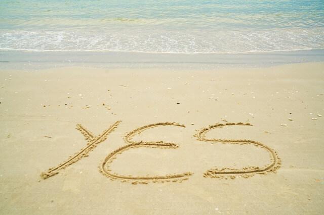 「YES」の一言