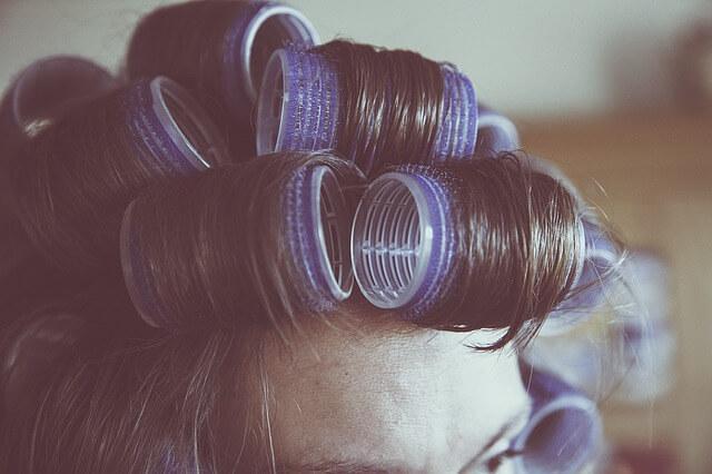 パーマをかけた髪