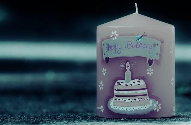キャンドルの誕生日プレゼント
