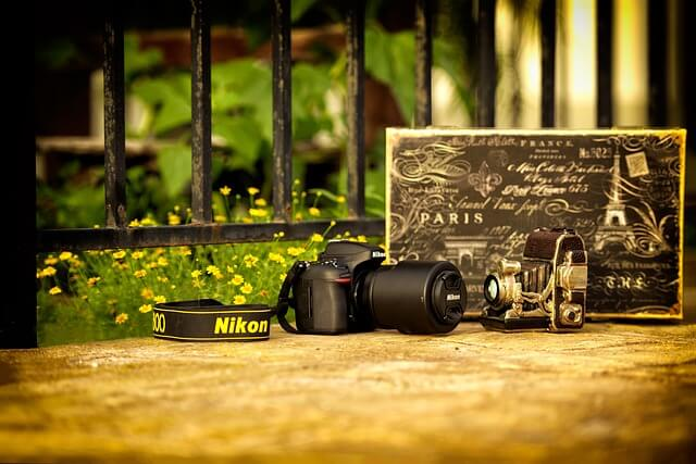 ビンテージのカメラ