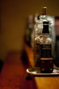 カウンターにある酒類