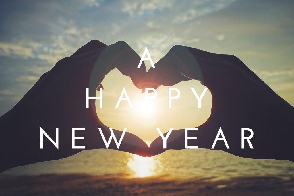 新年おめでとうと書かれた年賀状