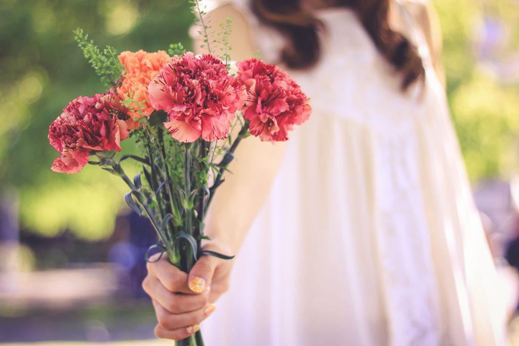 思いがけない花のプレゼント