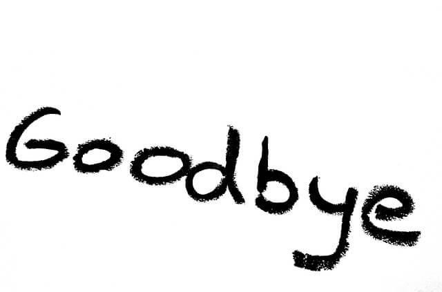 別れのメッセージ