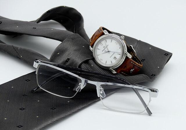 インテリな眼鏡と時計