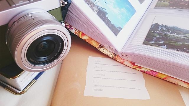 思い出のアルバムと写真