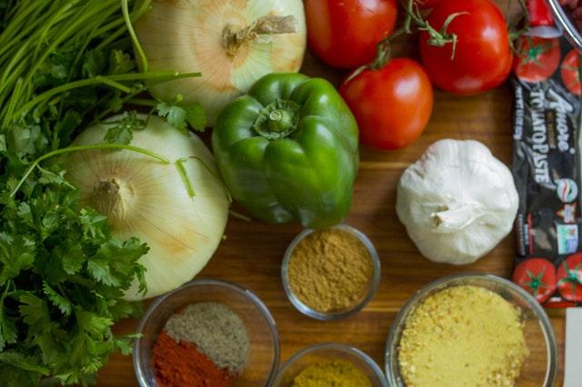 野菜が豊富な健康的なメニュー