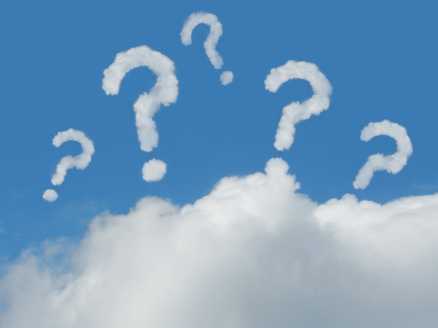 疑問形での質問