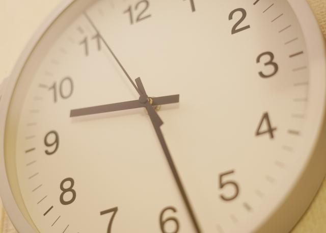 時計で時刻の確認