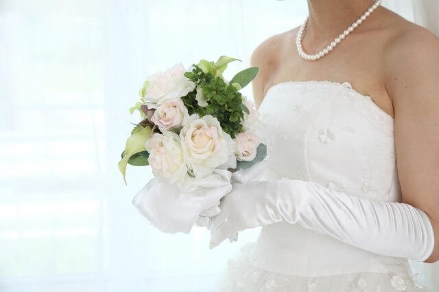 純白のウエディングドレス