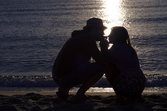 キスする瞬間