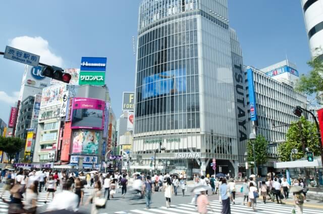 男友達と渋谷でデート
