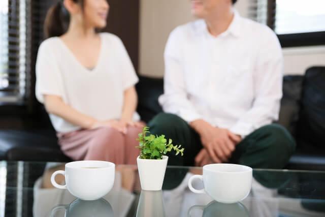 彼の話し相手として癒し系を目指す女性