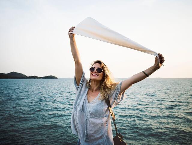 幸福感に溢れる女性