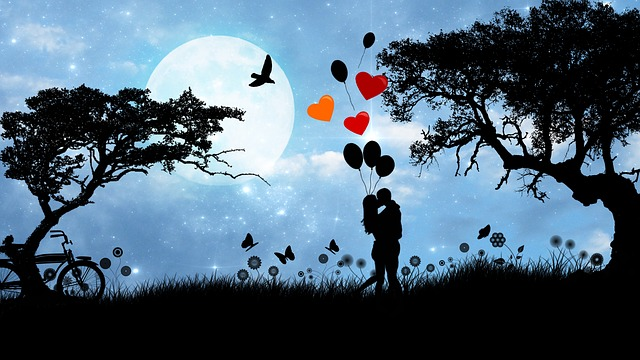 ロマンチックな初キス
