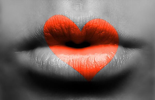 キスして欲しがる女性