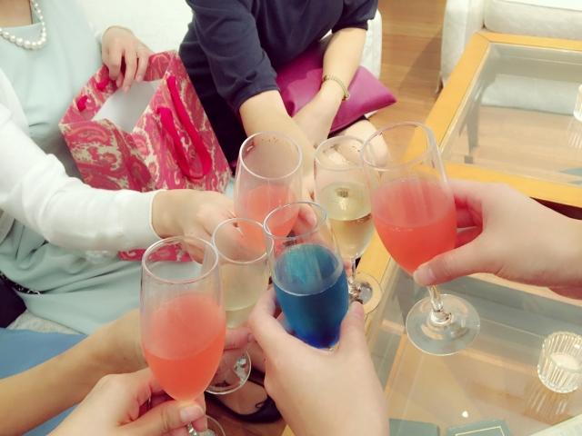 友達と一緒のお祝い