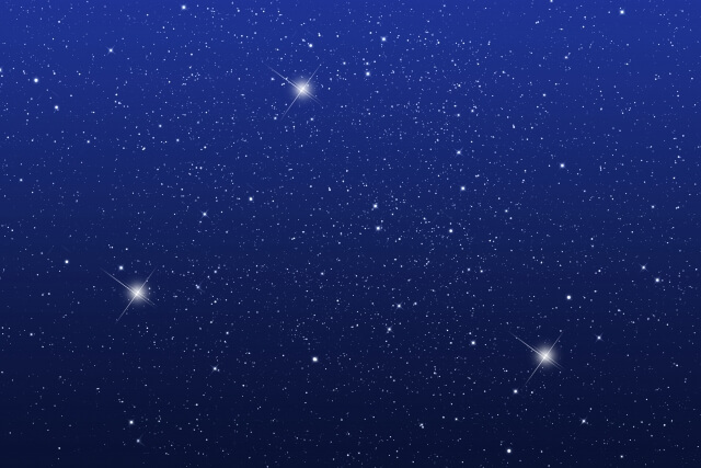 星空を眺めるカップル