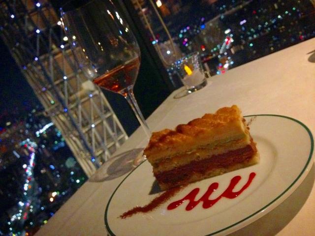 夜景のきれいな高級レストラン