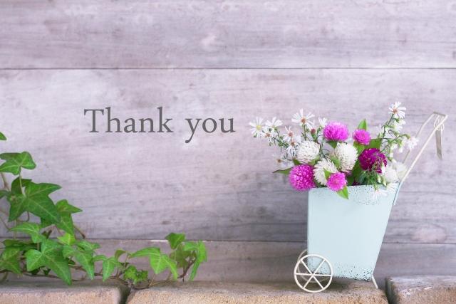 感謝を口に出す女性