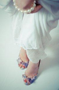 足首がきれいな花嫁
