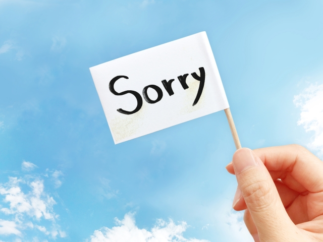彼への謝罪の気持ち
