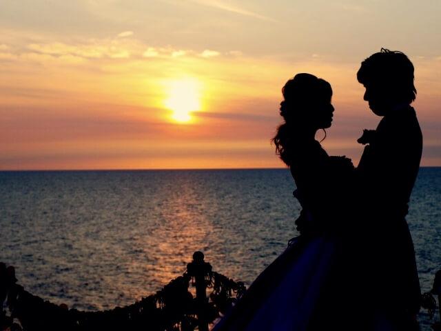 綺麗になった花嫁と花婿