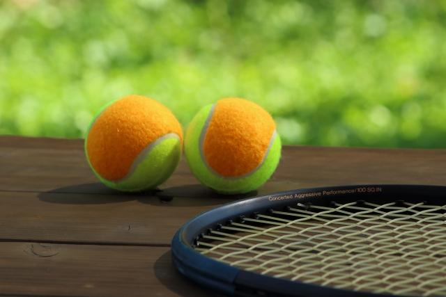 共通の趣味のテニス
