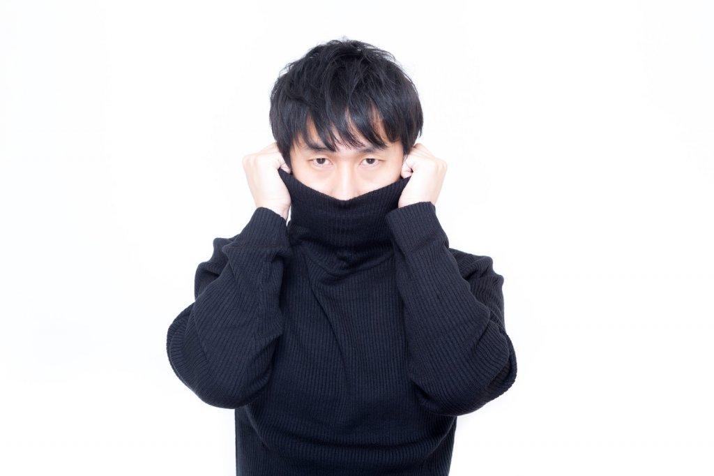 シャイな性格の男性