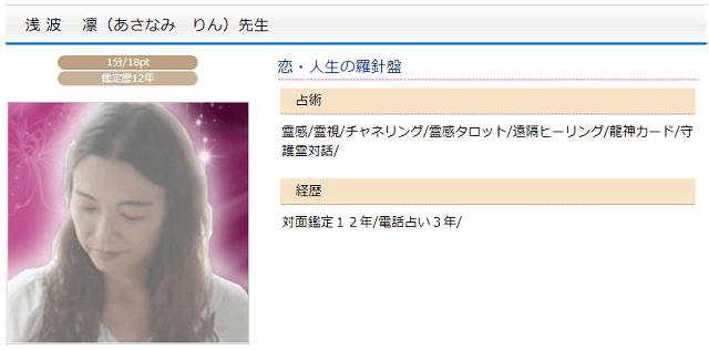 浅波凛先生のプロフィール