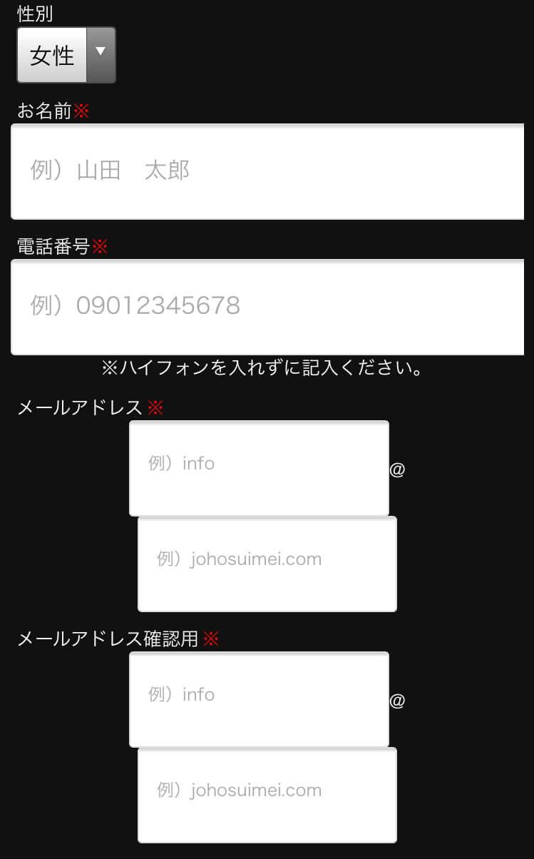 登録フォーム①