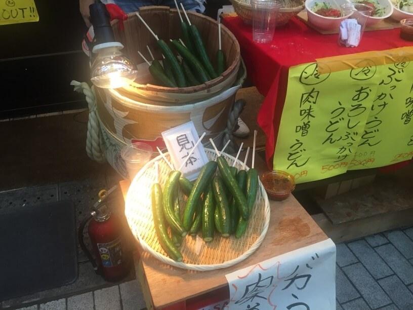 肉味噌キュウリの販売